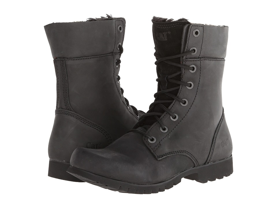 Caterpillar Casual Alexi Black Nubuck Womens Lace up Boots