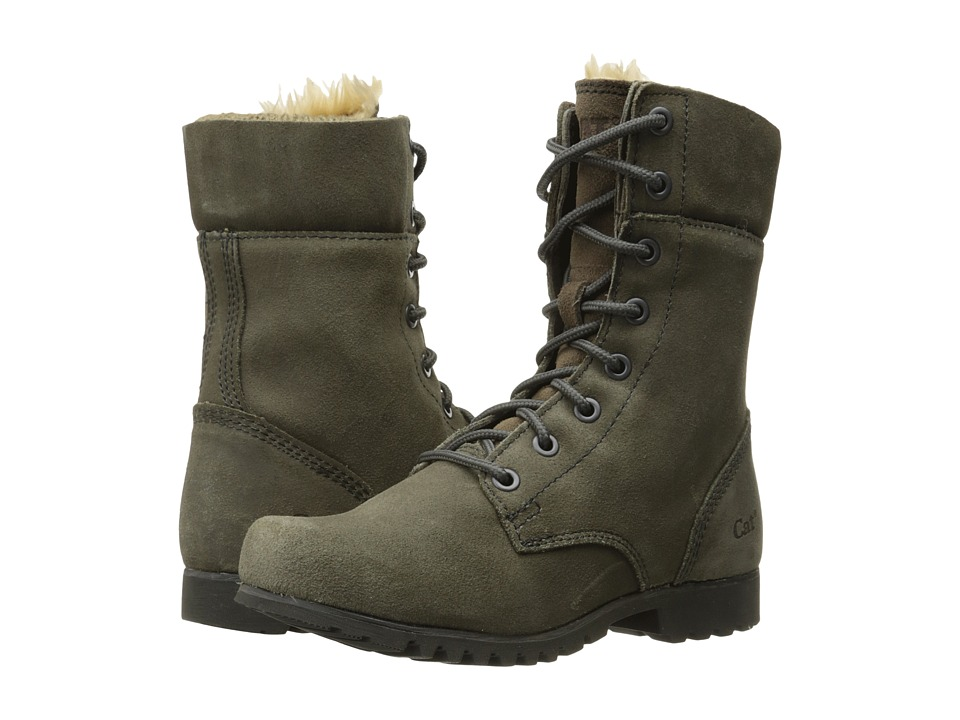 Caterpillar Casual Alexi Grey Suede Womens Lace up Boots