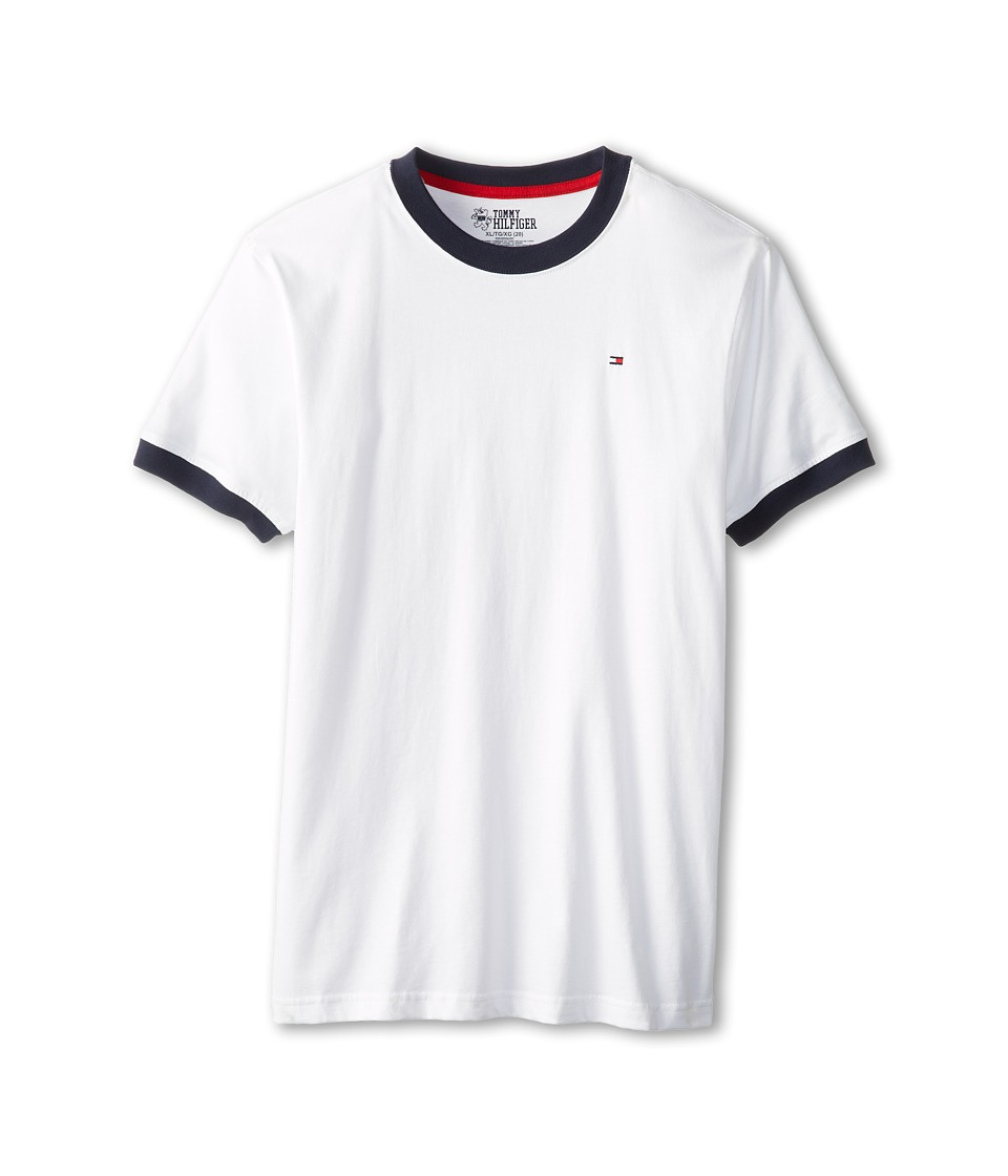 Tommy Hilfiger Kids - Ken Tee (Big Kids) (Classic White) Boys T Shirt