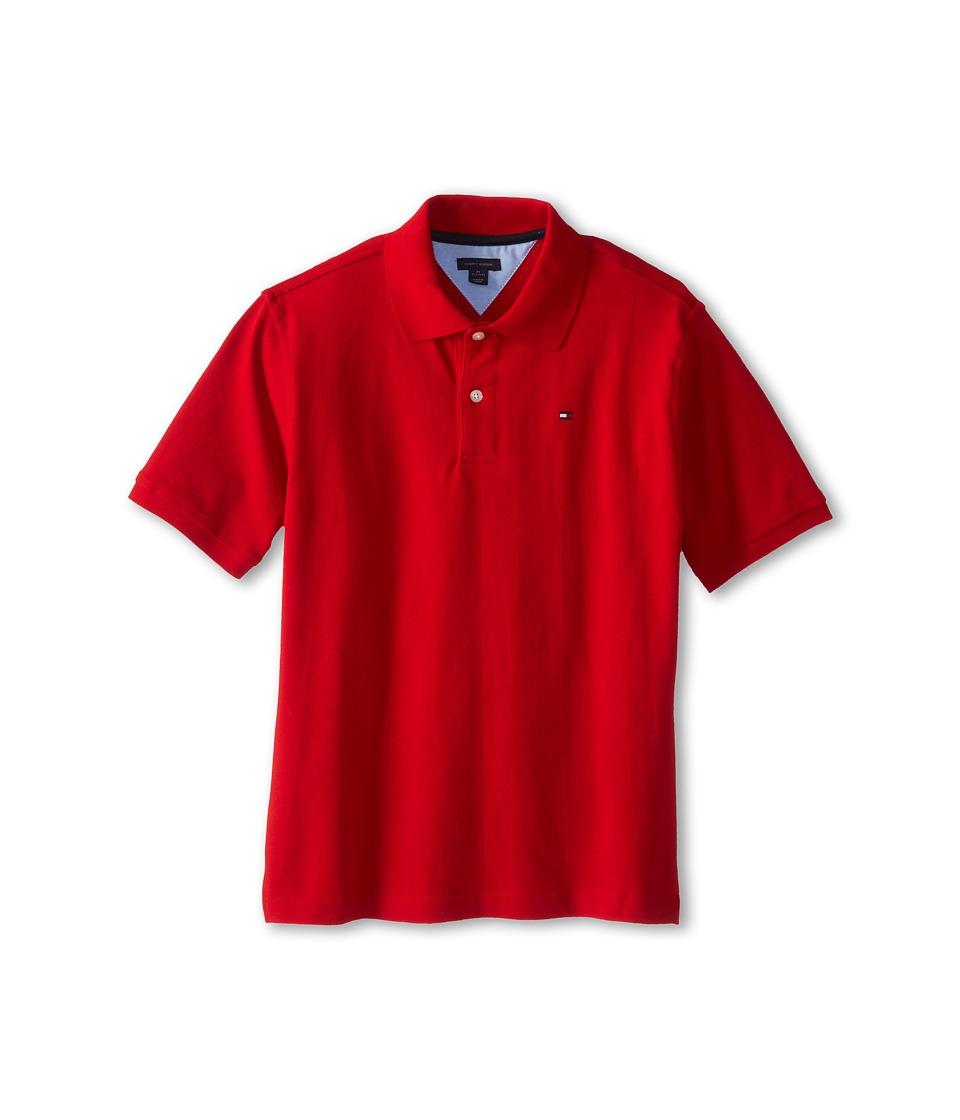 Tommy Hilfiger Kids Ivy Polo Big Kids Regal Red Boys Short Sleeve Pullover