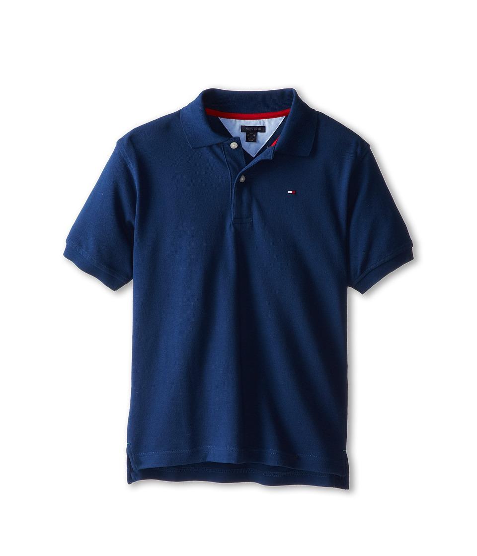 Tommy Hilfiger Kids Ivy Polo Big Kids Velvet Blue Boys Short Sleeve Pullover