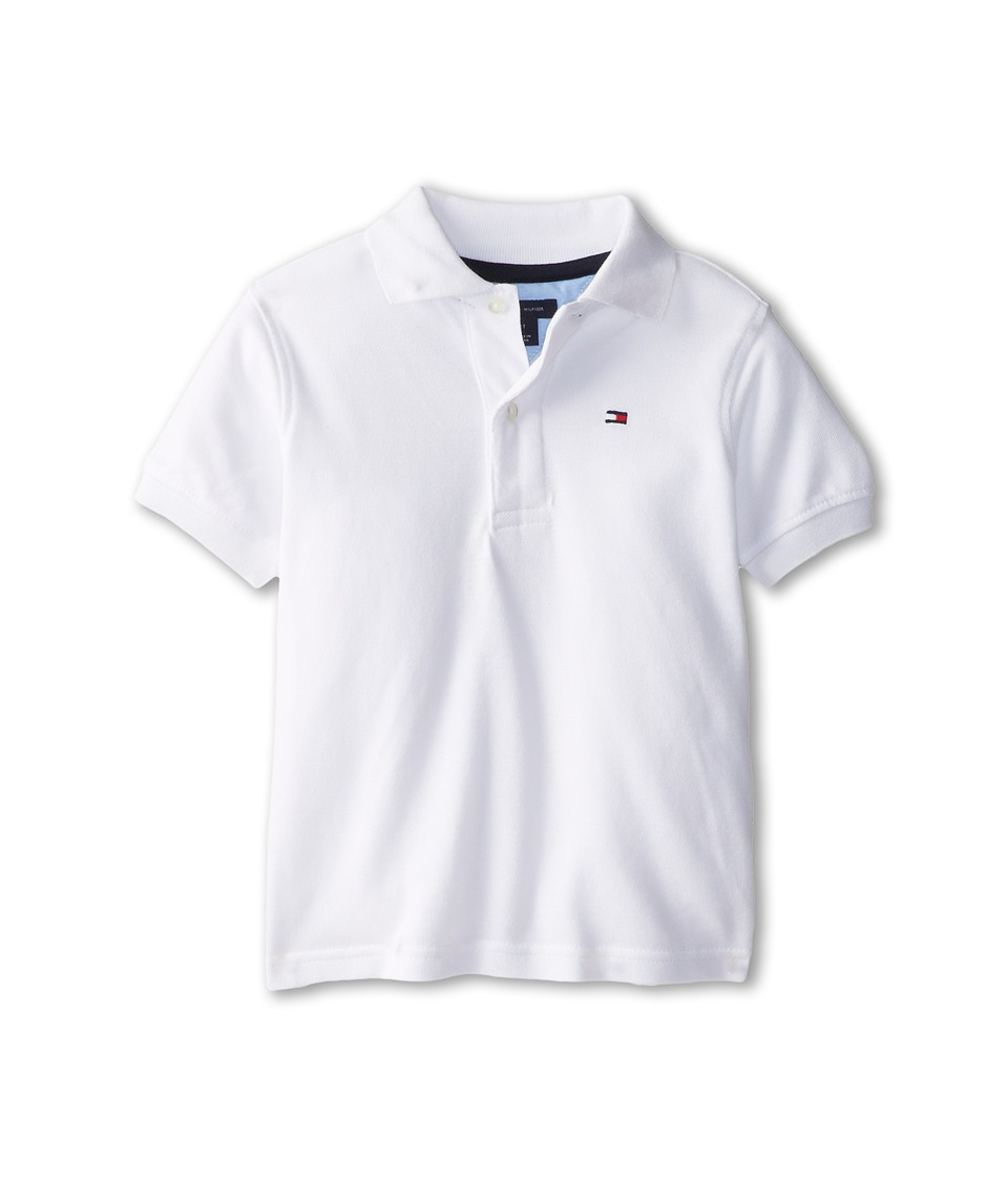 Tommy Hilfiger Kids Ivy Polo Toddler/Little Kids Classic White Boys Short Sleeve Pullover