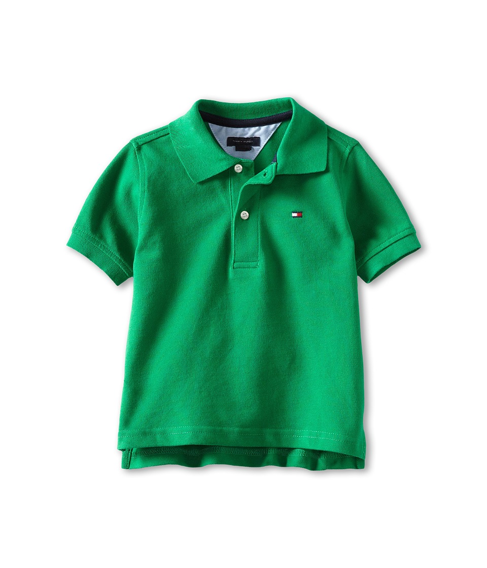 Tommy Hilfiger Kids Ivy Polo Toddler/Little Kids Rhinestone Green Boys Short Sleeve Pullover