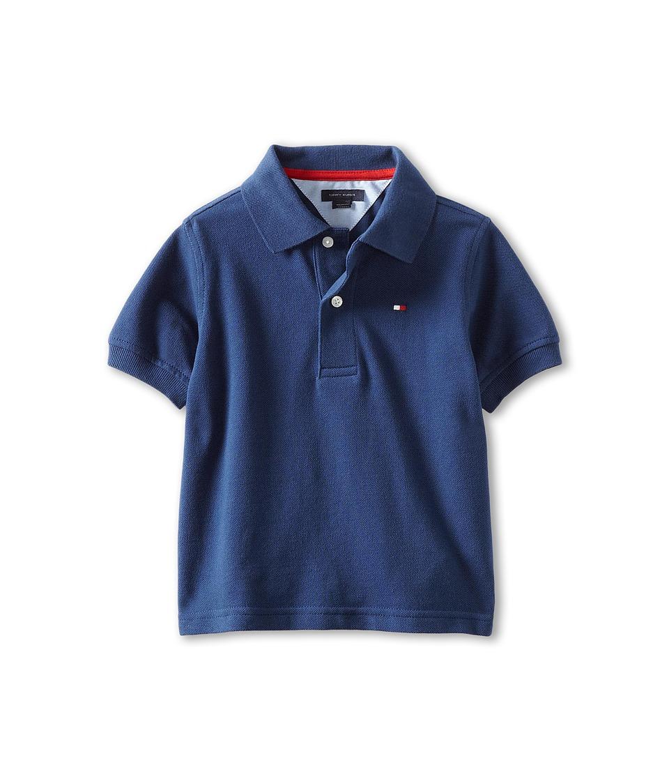 Tommy Hilfiger Kids Ivy Polo Toddler/Little Kids Velvet Blue Boys Short Sleeve Pullover