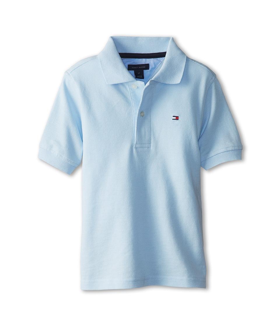 Tommy Hilfiger Kids Ivy Polo Toddler/Little Kids Capri Blue Boys Short Sleeve Pullover
