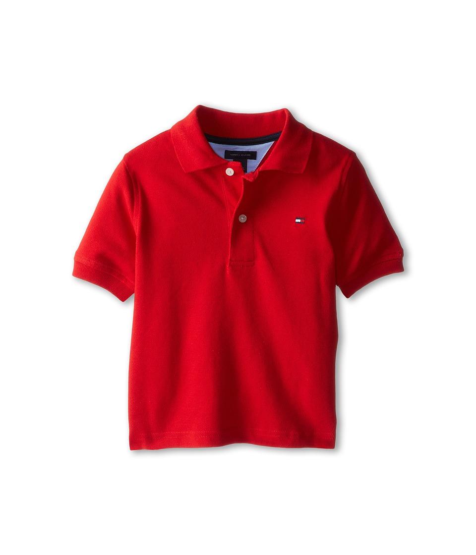 Tommy Hilfiger Kids Ivy Polo Toddler/Little Kids Regal Red Boys Short Sleeve Pullover