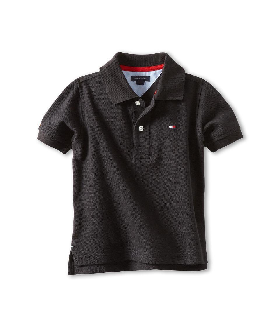 Tommy Hilfiger Kids Ivy Polo Toddler/Little Kids Tommy Black Boys Short Sleeve Pullover