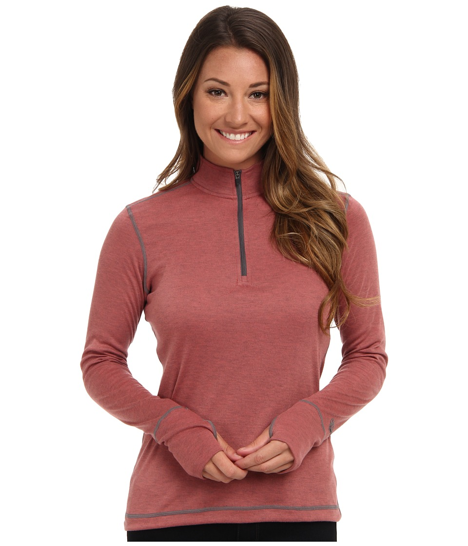Hot Chillys Geo Pro Zip T Rose/Heather Womens Long Sleeve Pullover