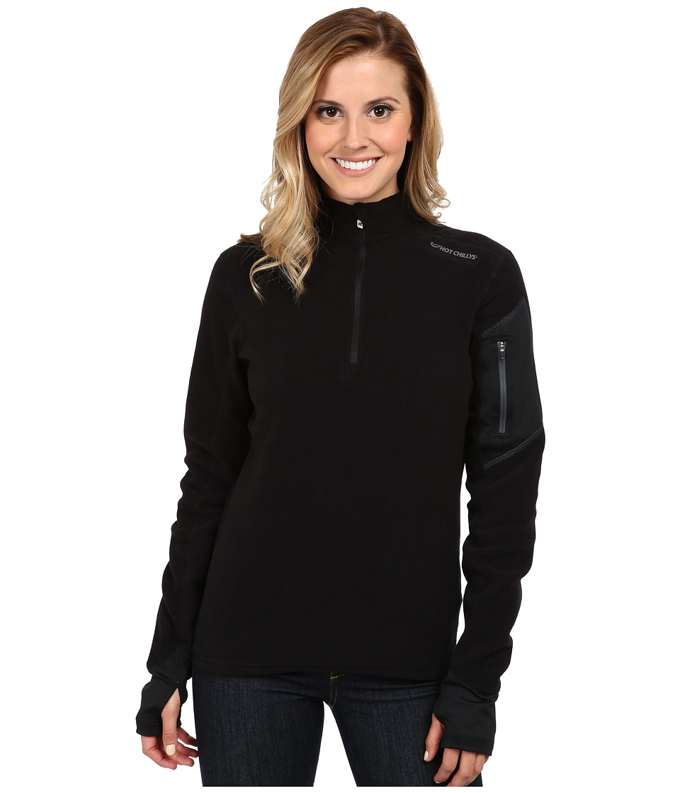 Hot Chillys La Montana Zip-T (Black/Black) Women