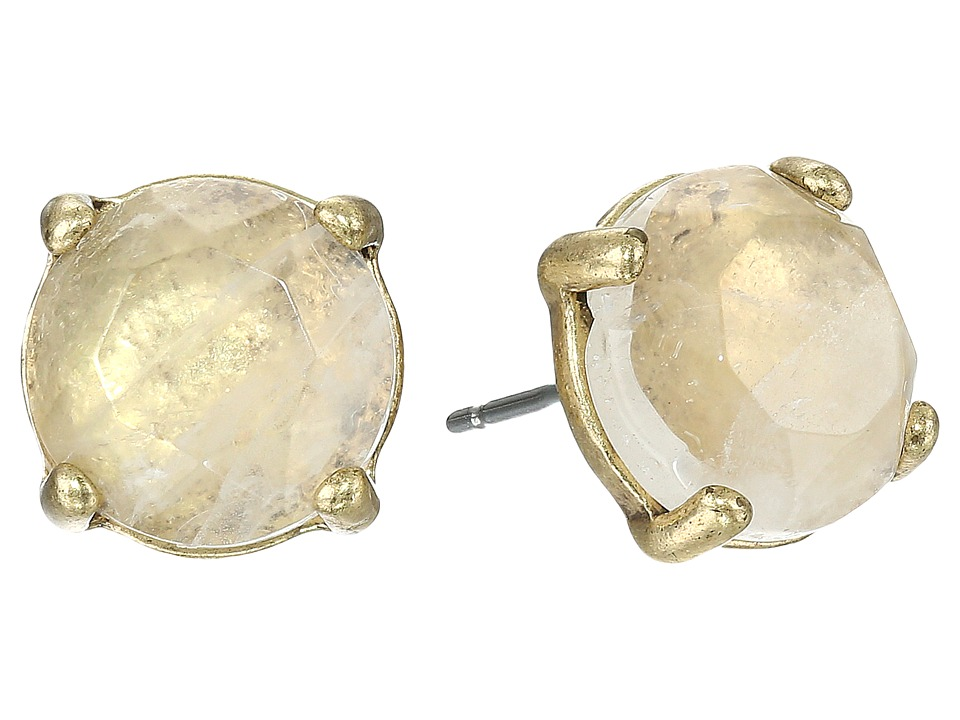Lucky Brand Rock Crystal Stud Earring Gold Earring