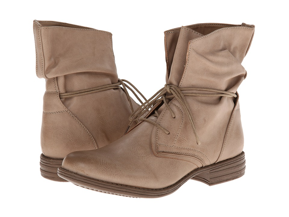 SKECHERS Mad Dash-Wrap (Taupe) Women's Lace-up Boots