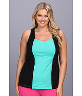 MSP by Miraclesuit - Plus Size Stripes & Brights Color Block Tank Top