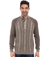 Tommy Bahama - Barbados Cable Button Mock Neck Sweater