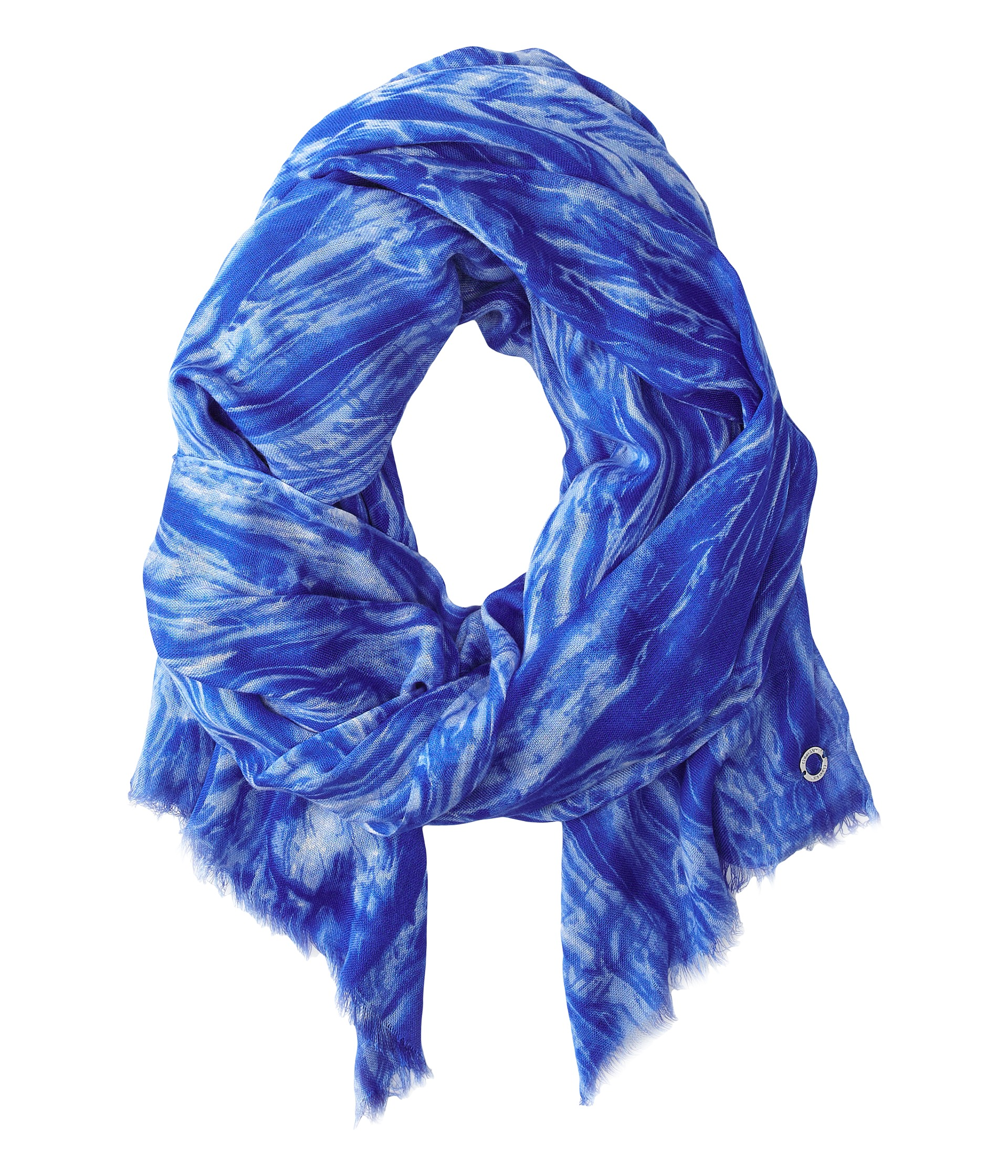 calvin klein distressed scarf sapphire shipped free at