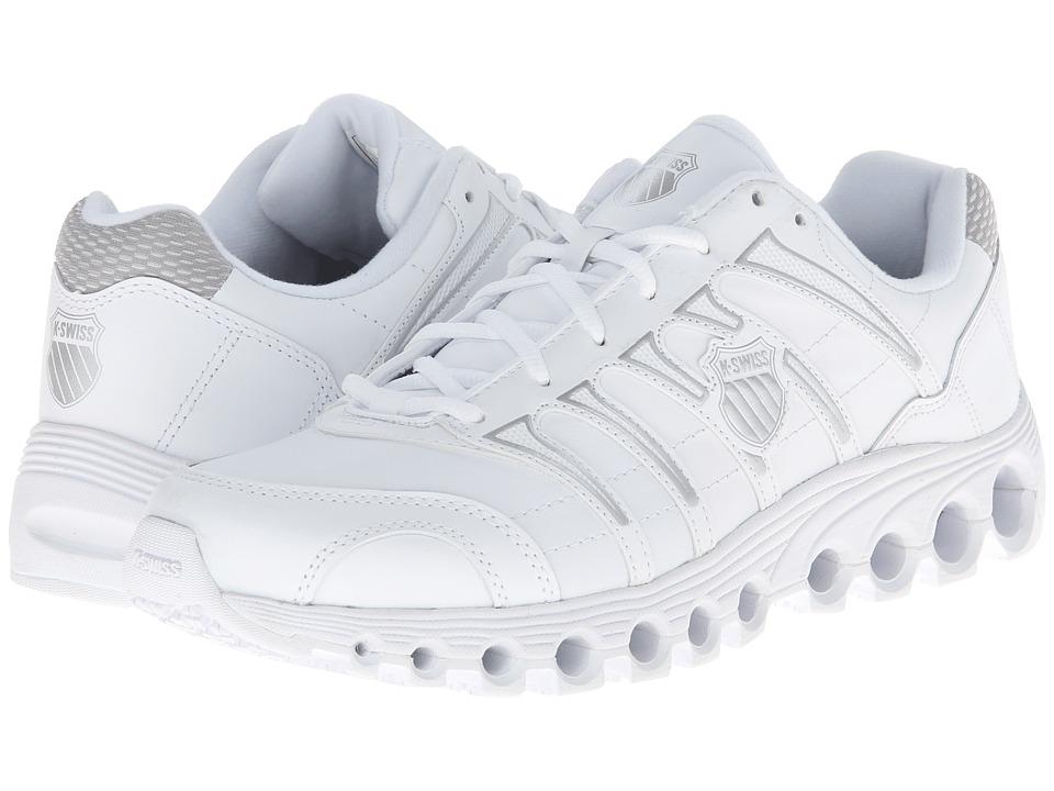 K-Swiss - Grancourt II Slip Resistant (White/Silver) Mens Running Shoes