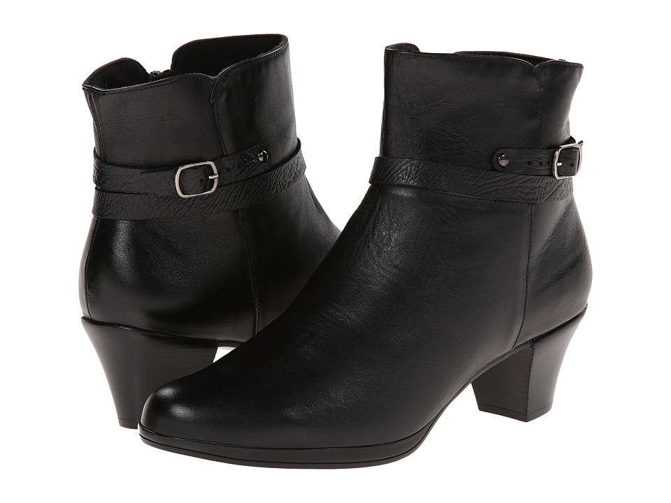 Munro American Dylan Black Leather Womens Boots