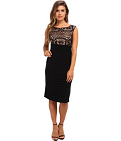 Adrianna Papell - Romantic Lace Top Banded Dress