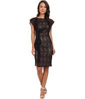 Adrianna Papell - Cascading Ruffle Sheath Dress