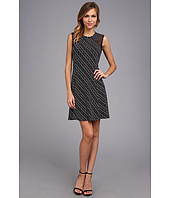 Vince Camuto - S/L Mesh Inset Dress