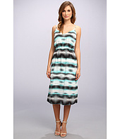 Vince Camuto - S/L Linear Echoes High Waist Dress