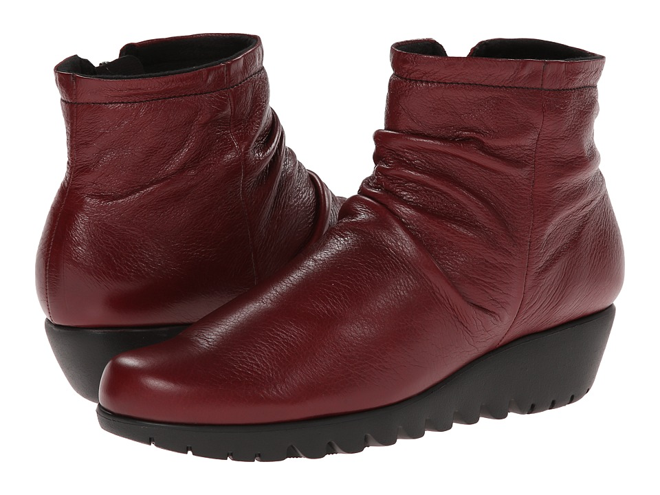 Munro American Riley Red Leather Womens Boots