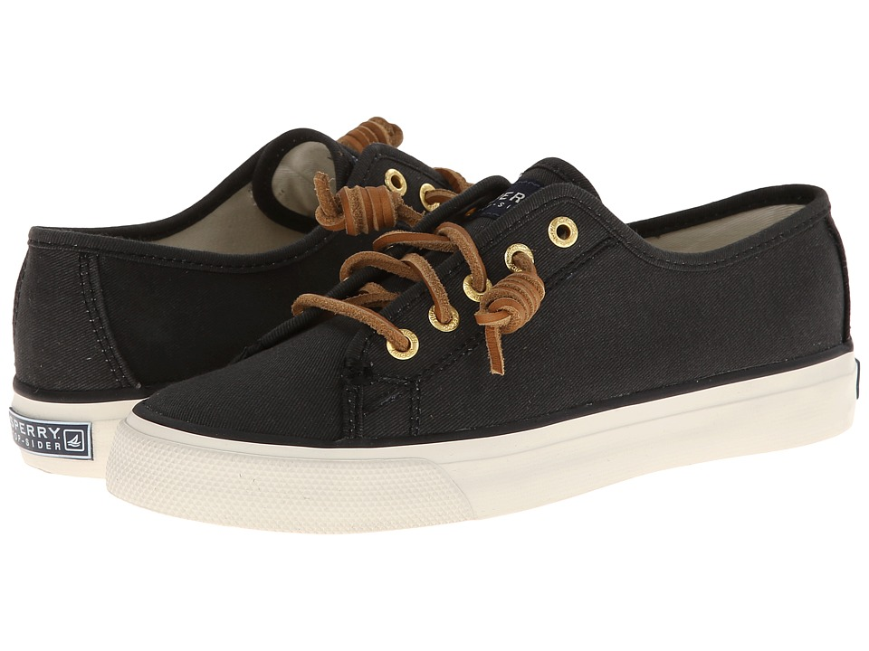 Sperry Top Sider Seacoast Black Womens Lace up casual Shoes