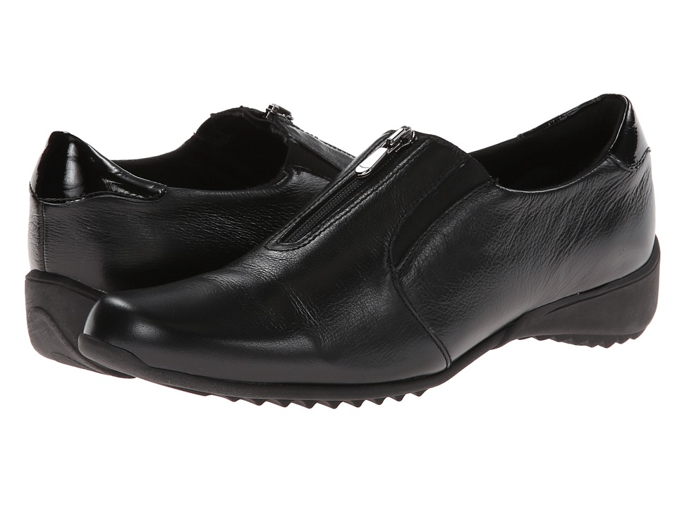 Munro American Berkley Black Leather Womens Slip on Shoes