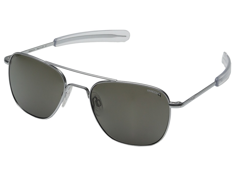 Randolph Aviator 55mm Polarized Matte Chrome/Gray Polarized Fashion Sunglasses