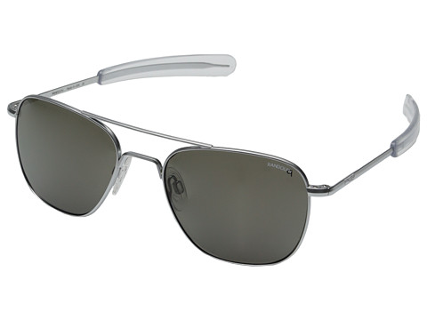 Randolph Aviator 55mm Polarized - Matte Chrome/Gray Polarized