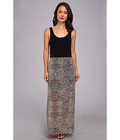 Vince Camuto - Chiffon Overlay Des Leopard Maxi Dress