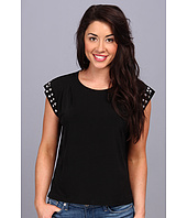 MICHAEL Michael Kors - Petite Stud Sleeve Pleat Top