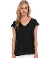 MICHAEL Michael Kors - Petite V-Neck Top w/ Embellished Shoulders