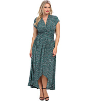 MICHAEL Michael Kors - Plus Size Cap Sleeve Maxi Wrap Dress