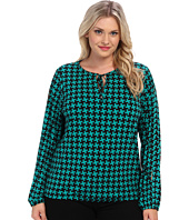 MICHAEL Michael Kors - Plus Size Abstract Pinwheel Peasant Top