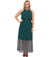 MICHAEL Michael Kors - Plus Size Meadow Maxi Chain Dress