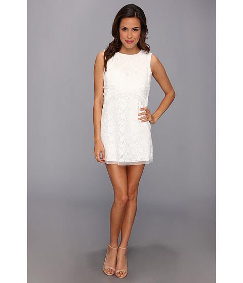 Bcbgmaxazria Stelah Draped Sheath Dress: BCBGMAXAZRIA Amelie Sleeveless Lace Drape Dress