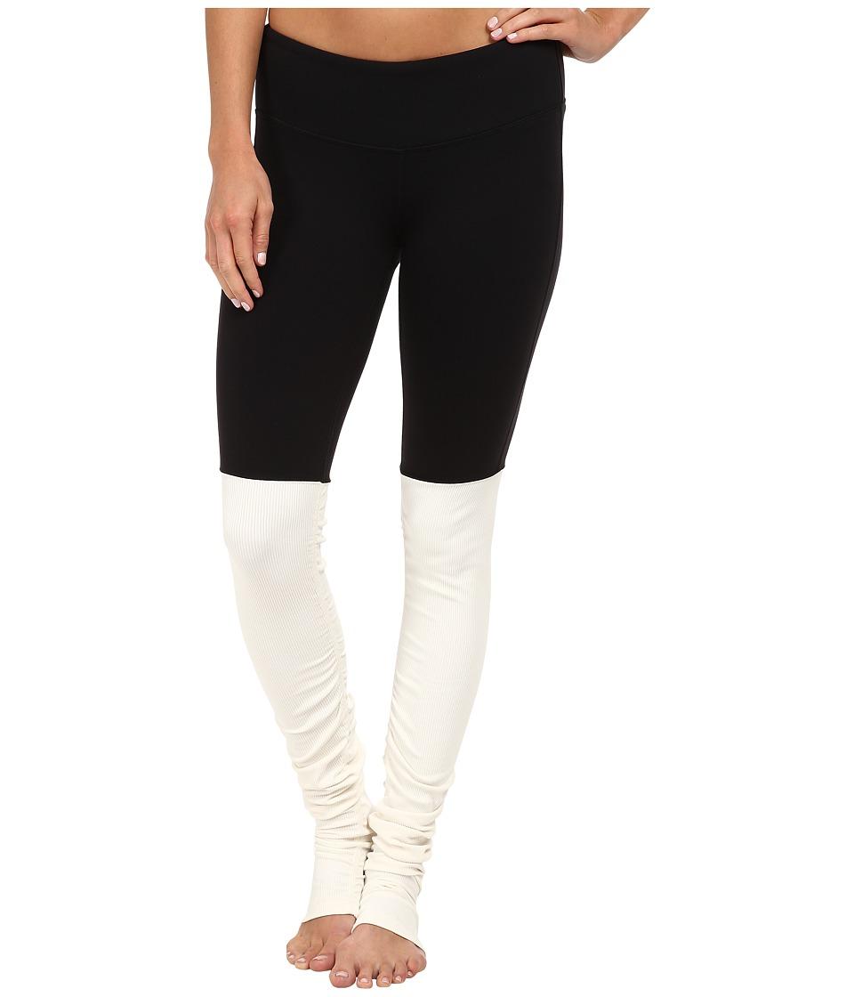 ALO Goddess Ribbed Legging Black/Natural Womens Workout