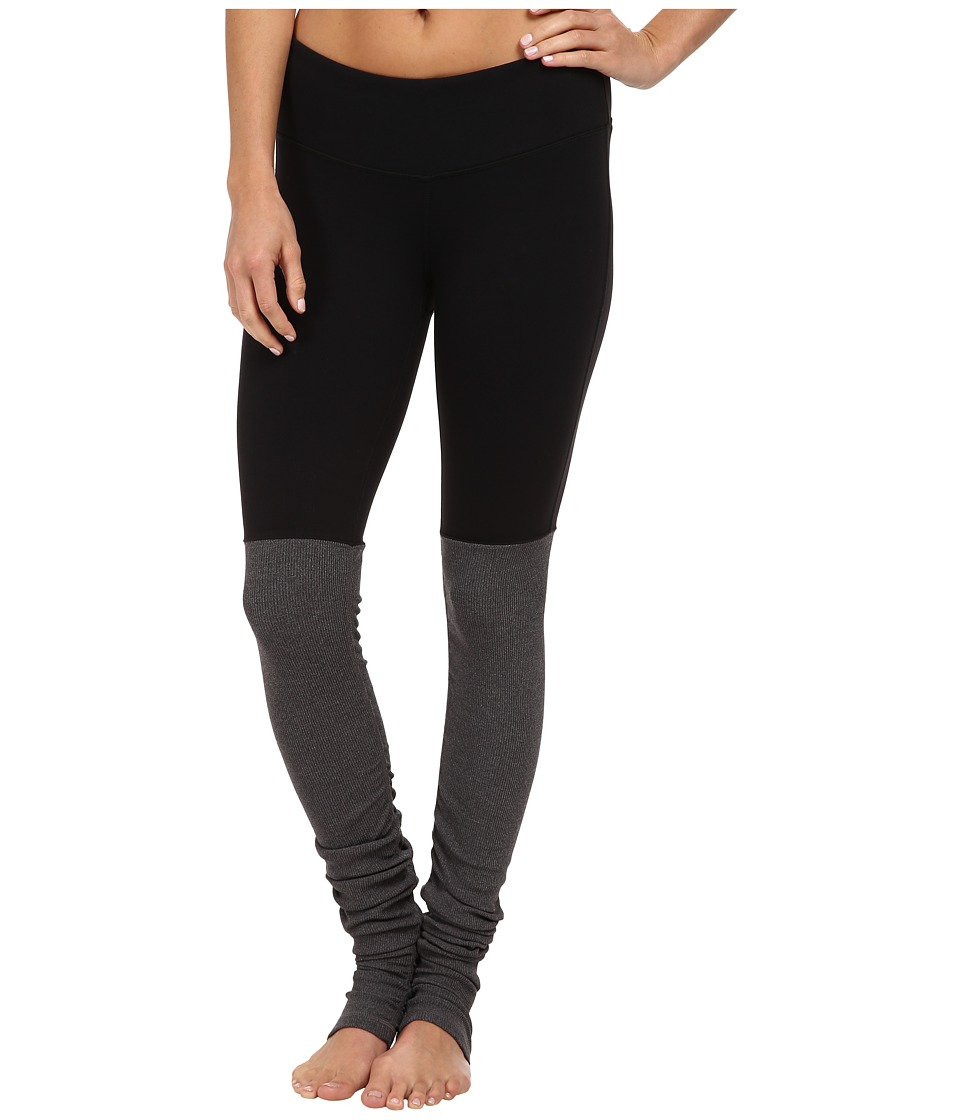ALO Goddess Ribbed Legging (Black/Stormy Heather) Women's Workout