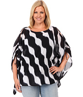 MICHAEL Michael Kors - Plus Size Wave Cold Shoulder Flutter Top