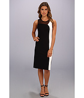 ABS Allen Schwartz - Color Block Ponte and Mesh Sheath Dress