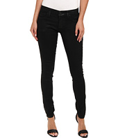 7 For All Mankind - Luxe Jeather Mid Rise Ankle Skinny in Black Jeather