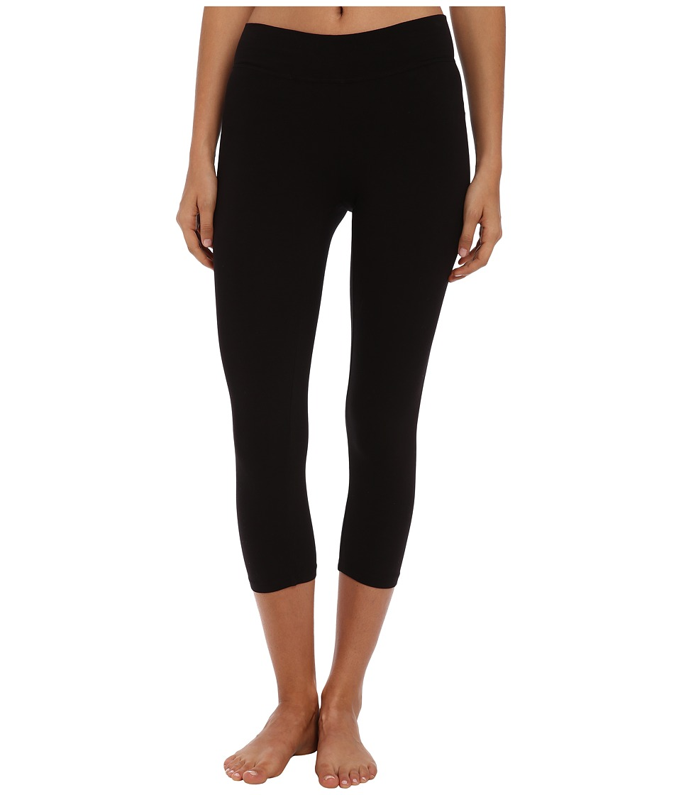 LAmade - Basic Crop Leggings (Black) Womens Casual Pants