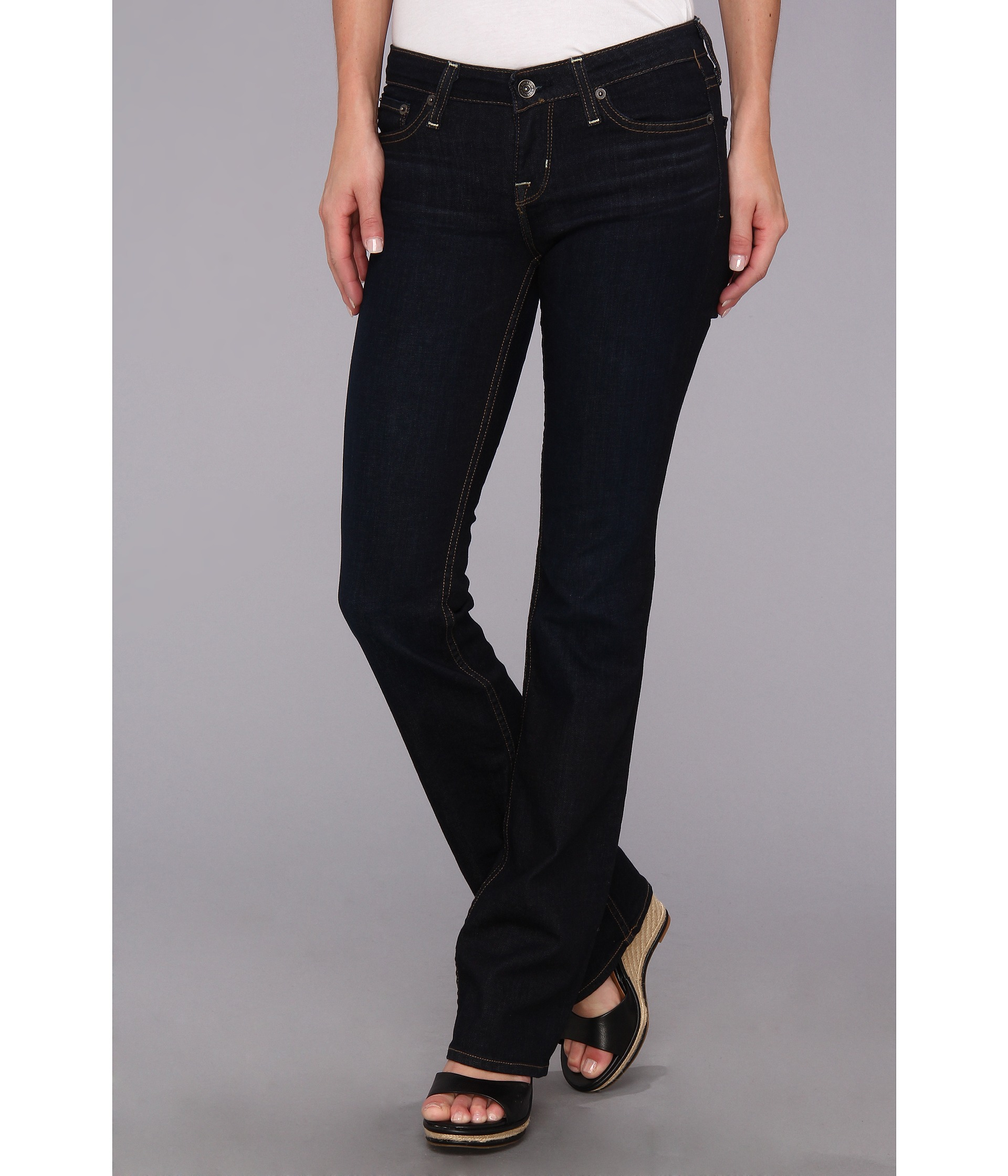 Ladies Black Bootcut Jeans - Jon Jean