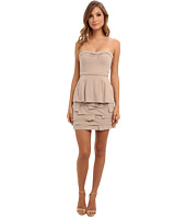 BCBGMAXAZRIA - Strapless Layered Ruffle Dress