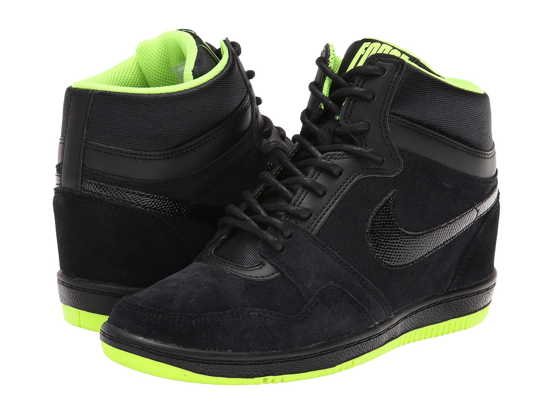 Blue Sandals: Zappos Nike Sneakers Women Nike Fast Love Sky High Wedge Sneakers