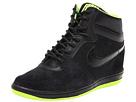 Nike Force Sky High Sneaker Wedge (Black/Volt/Black)