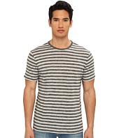 Vince - S/S Striped Linen Tee