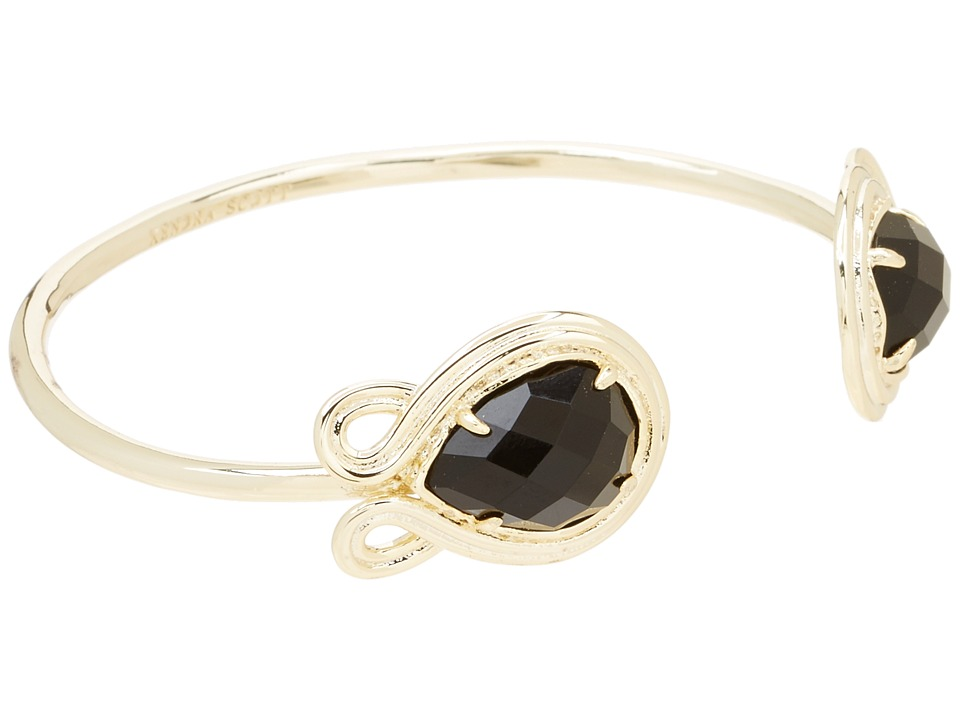 Kendra Scott Andy Bracelet Gold Black Opaque Glass Bracelet