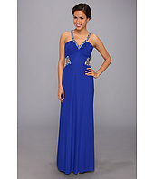 Faviana  Beaded Mesh Inset Gown 7348  image