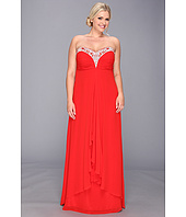Faviana  Plus Size Beaded Sweetheart Strapless Chiffon Gown 9324  image